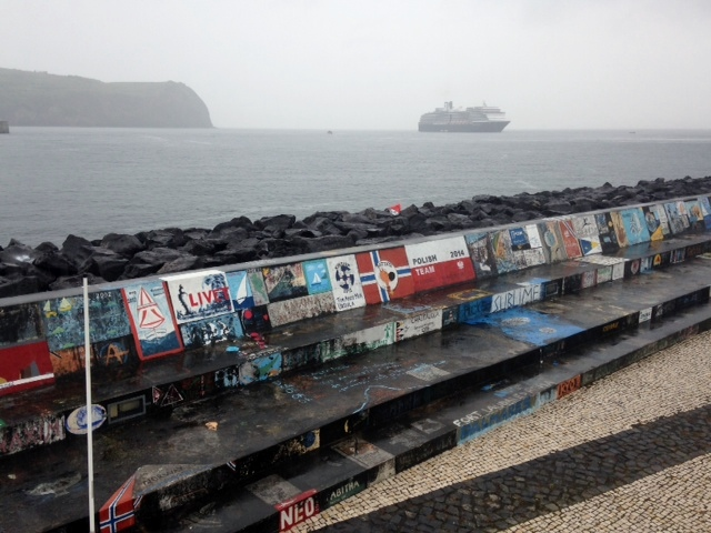 Dockside artwork in Horta