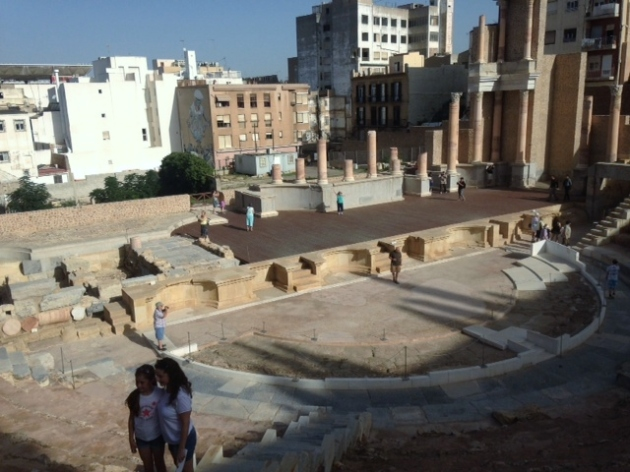 Leah on Roman stage in Cartagena