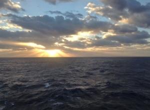 Shipboard sunrise