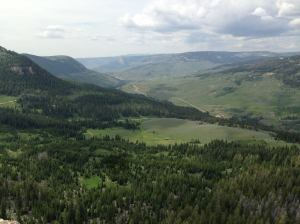 Kimberly Condie one of Wyoming - a great view from a mountain we climbed last summer.
