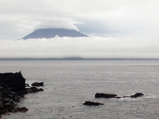 Mount Pico as seen from Horta, Portugal 10-27-14