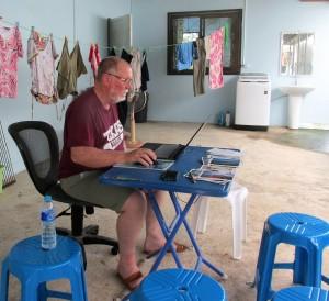 Steve at work