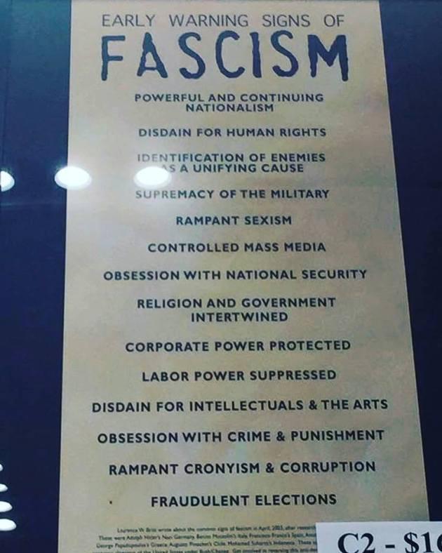 fascism poster
