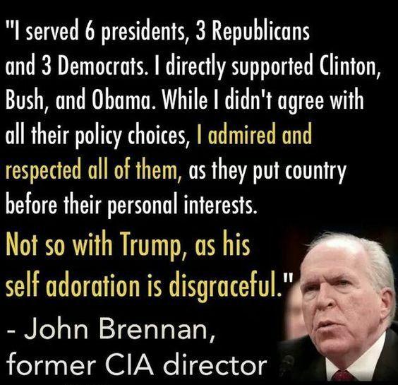 Brennan trump disgraceful