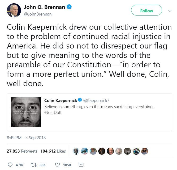 Kap tweet - Brennan