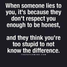 lying no respect