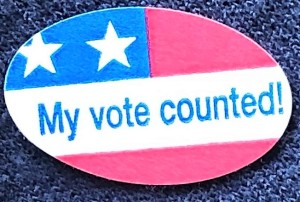 My vote counted sticker